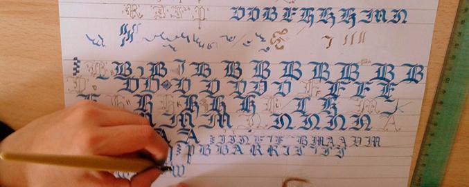 Taller de caligrafía gótica